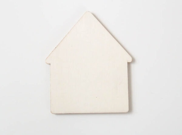 small wooden house shape
