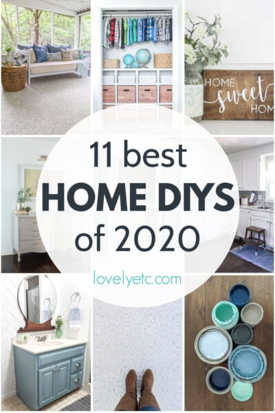 collage of most popular home DIY projects of the year.