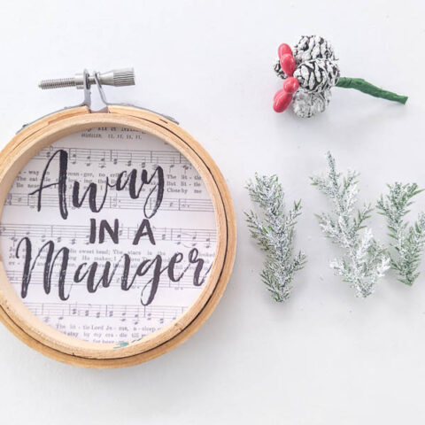 embroidery hoop ornament with trim
