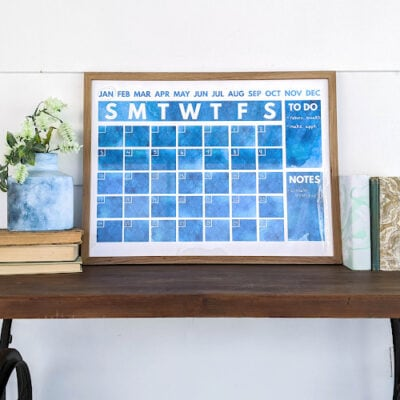 Pretty Printable Wall Calendars to Use for Years to Come