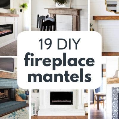 19 Amazing DIY Fireplace Mantel Ideas To Inspire You
