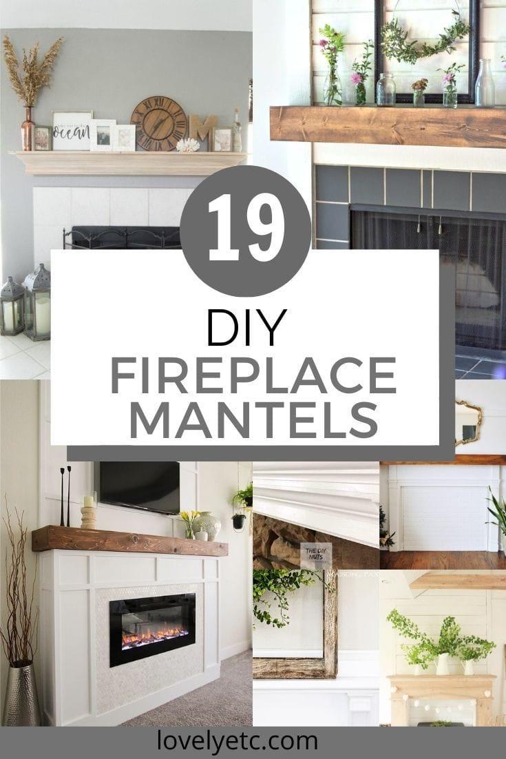 19 diy fireplace mantels