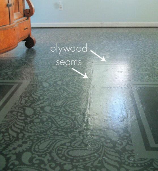 plywood seams in painted subfloor