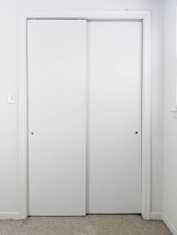 plain flat panel sliding closet doors.