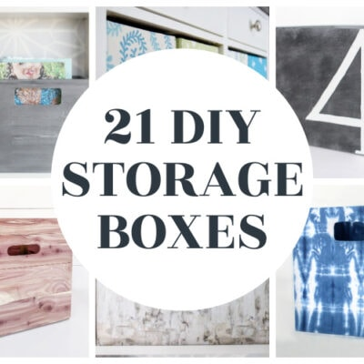 21 Cheap and Easy DIY Storage Boxes