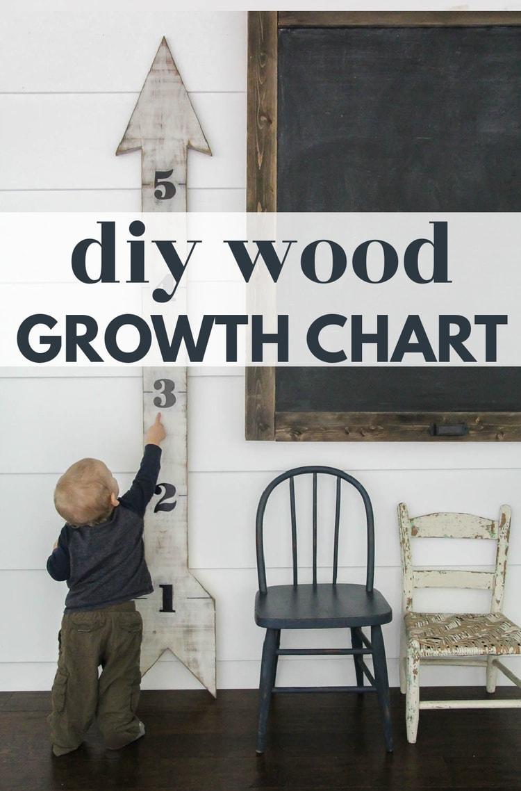 diy wood growth chart