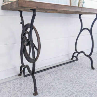 How to Repurpose a Vintage Sewing Machine Table as a Desk