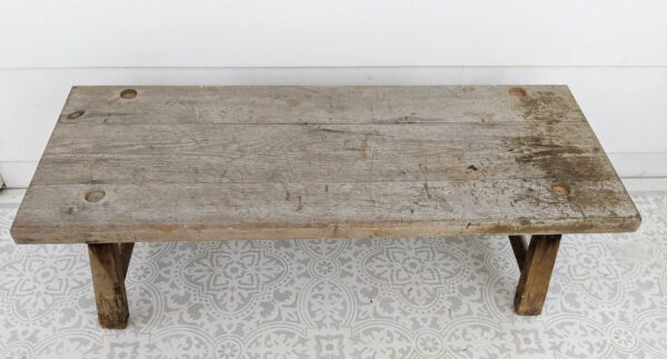old wooden bench ready to be repurposed.