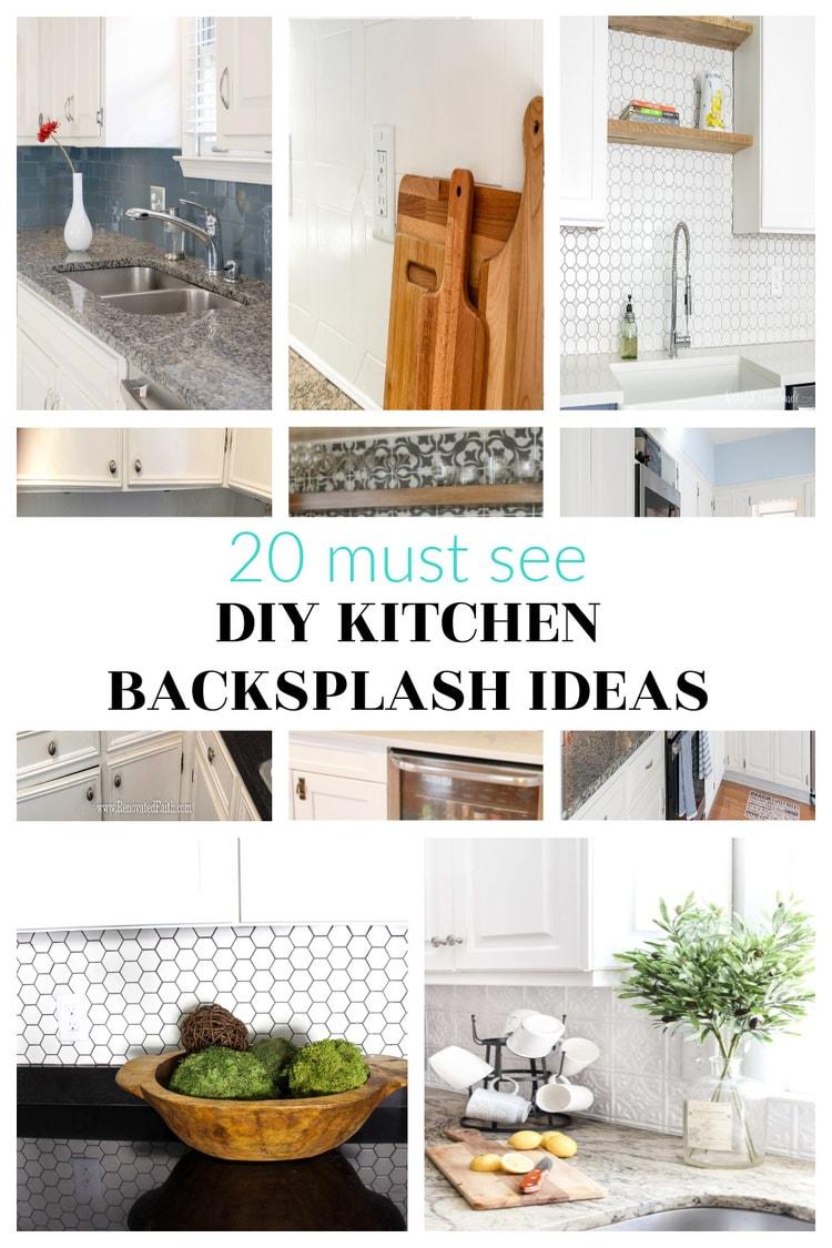 diy kitchen backsplash collage