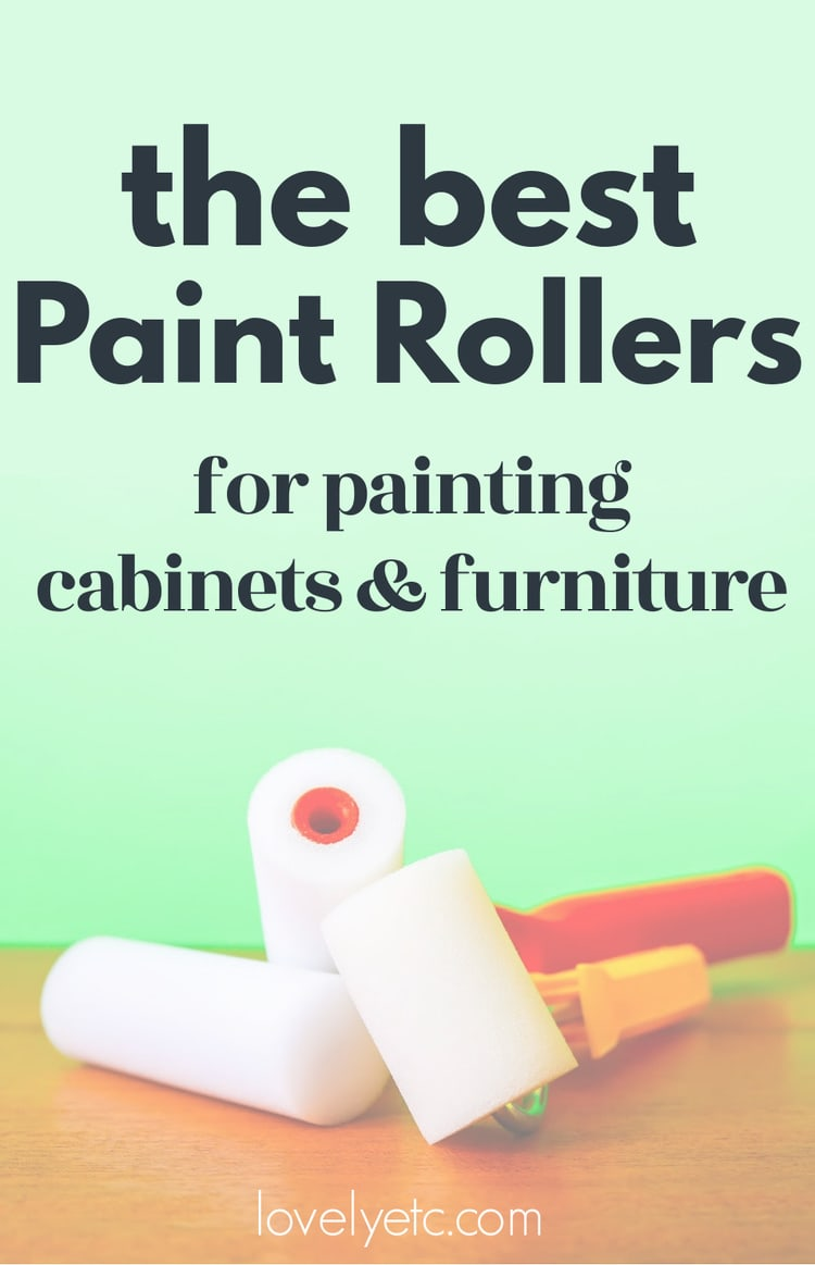 paint rollers with a green background with the text: the best paint rollers for a perfectly smooth paint finish.