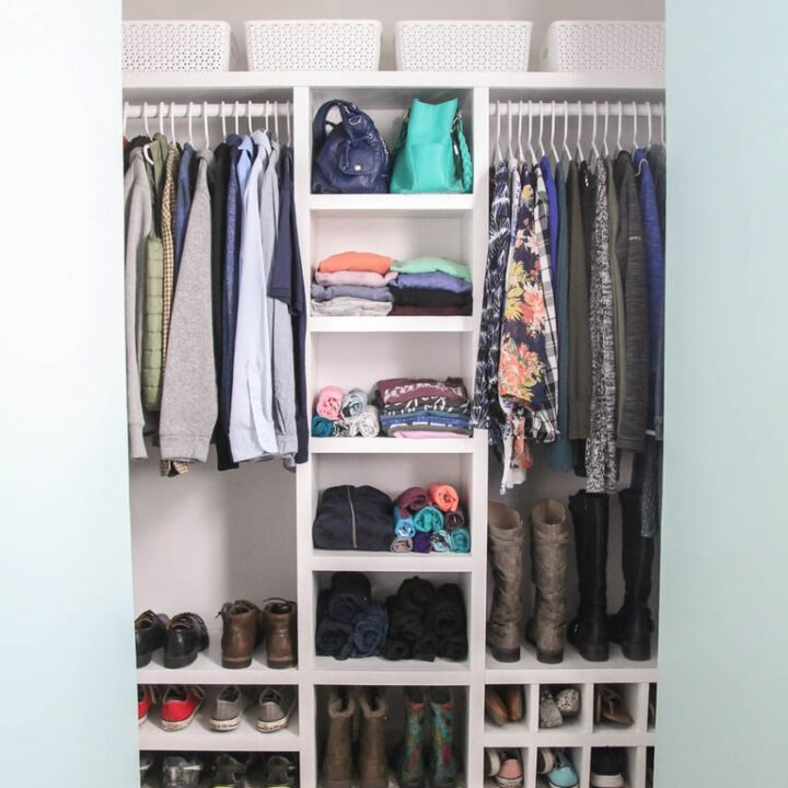 How to Build a Simple Inexpensive DIY Closet Organizer