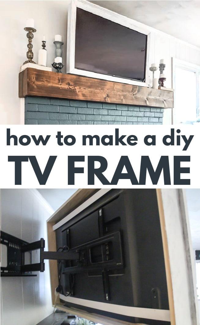 diy tv frame over fireplace.