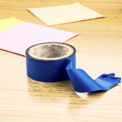 painter's tape on table