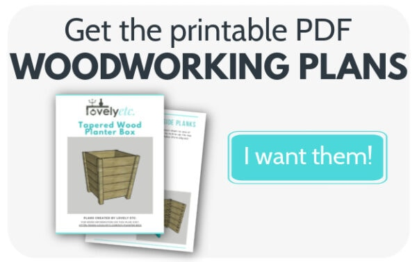 Button that says get the printable pdf woodworking plans.