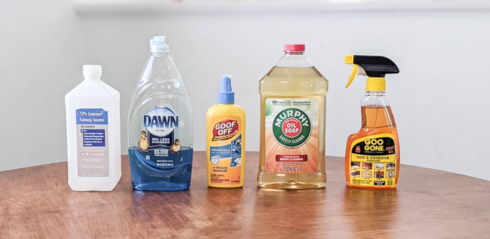 stencil cleaners to test - alcohol, dawn dishsoap, goof off, murphy oil soap, goo gone.