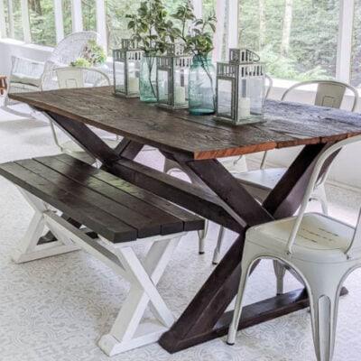How to Build a Beautiful DIY Farmhouse Table with X Legs
