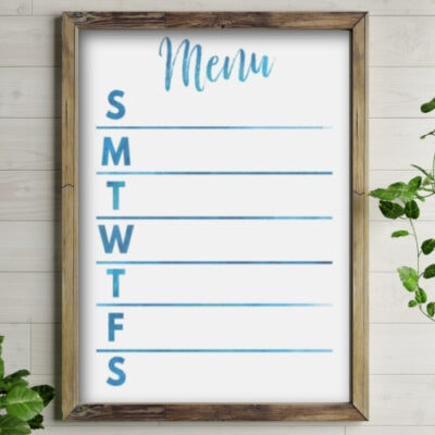 Free Printable Meal Planners for a Command Center or Planner