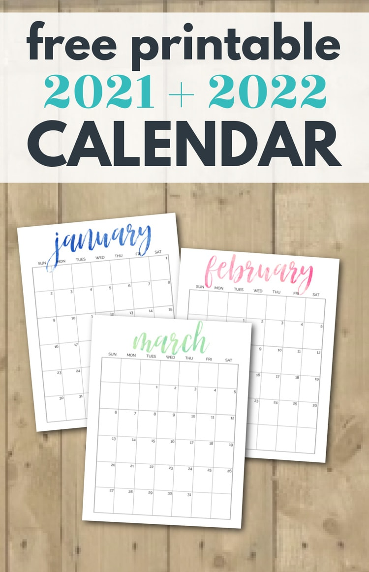 2022 Calendar Pretty.Simple And Pretty Free Printable 2021 And 2022 Calendars Lovely Etc