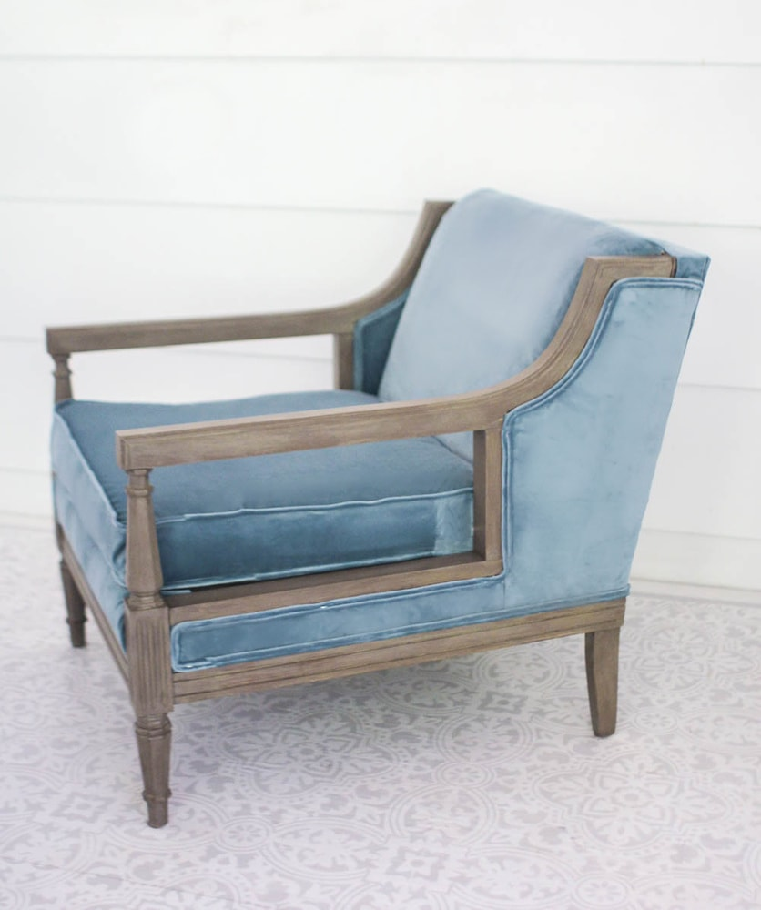 Reupholstered chairs with diy double welt cord trim.