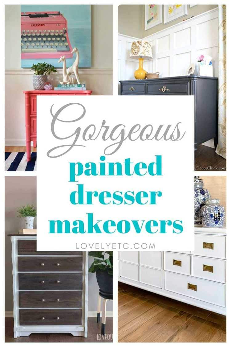 gorgeous painted dressers pin collage with text overlay